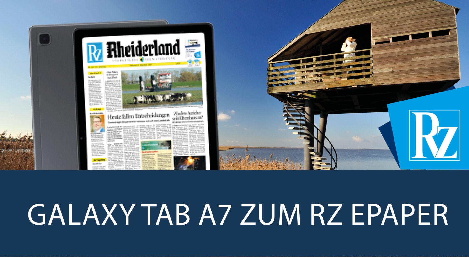 Galaxy Tab A7 zum RZ ePaper